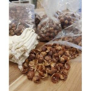 Wasnoot één kilo zak + katoenen waszak