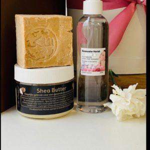Set Beauty Budget (Rozenwater, Aleppo zeep, Shea Butter)